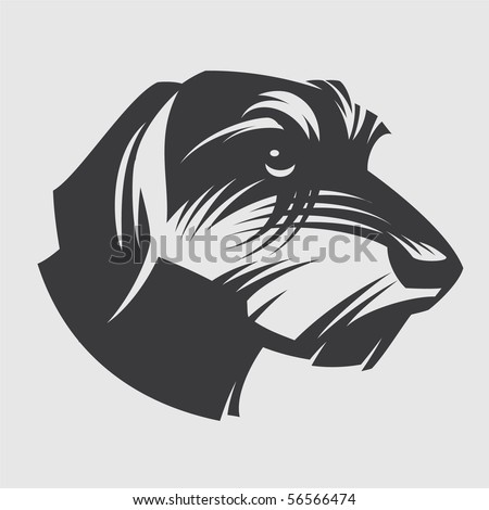 Dog Dachshund - stock vector
