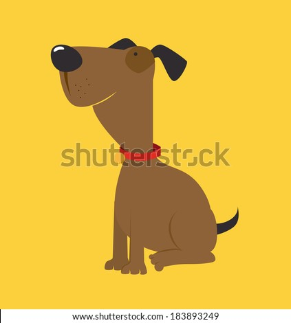 Dog design over yellow background, vector illustration