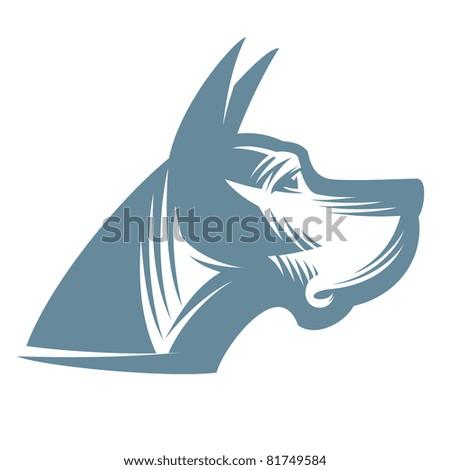 Dog. Great Dane - stock vector