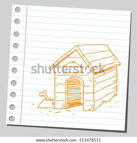 Dog house - stock vector