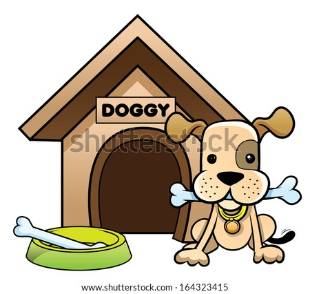 Cartoon Dog House Vector Clip Art Stock Vector 115336528 ...