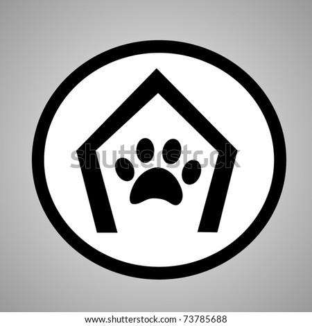 dog house sign - stock vector