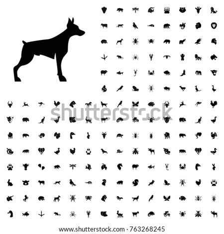 Dog icon illustration isolated vector sign symbol. animals icon set for web and mobile.