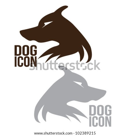 Dog Icon illustrative logo vector - stock vector