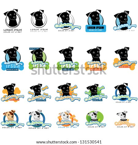 Dog Icons - Isolated On White Background - Vector Illustration, Graphic Design Editable For Your Design. Dog Logo - stock vector