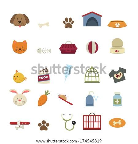 Dog icons vector - stock vector