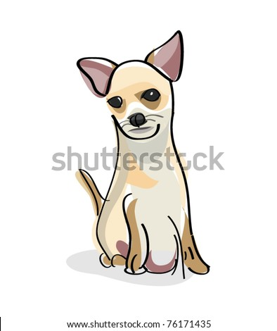 dog illustration chihuahua