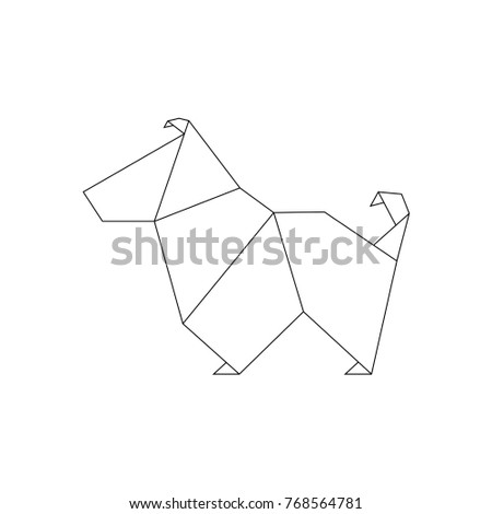 Dog Origami Style Geometric Shape Folded Stock Vector 768564781 ...