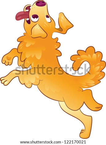 Dog Jumping - stock vector