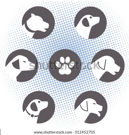 Dog  logos  - stock vector