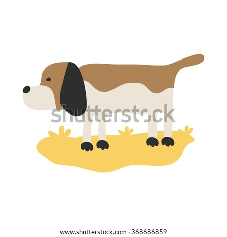 dog on the white background - stock vector