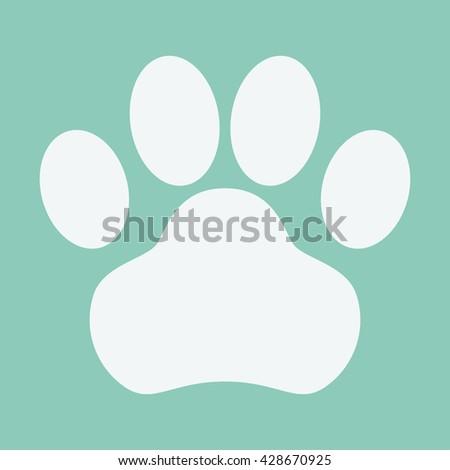 Dog Paw Icon - stock vector