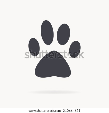 dog paw icon , vector illustration - stock vector