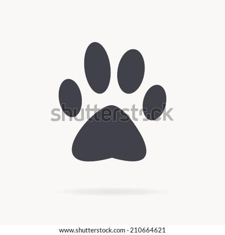 dog paw icon , vector illustration - stock vector