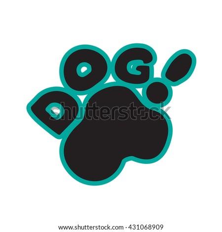 Dog paw logotype - stock vector