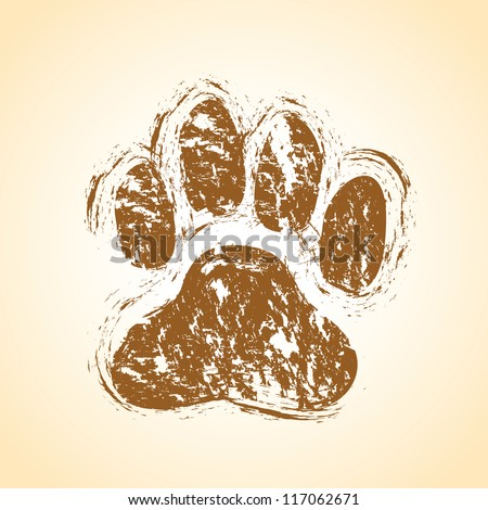 dog paws - stock vector