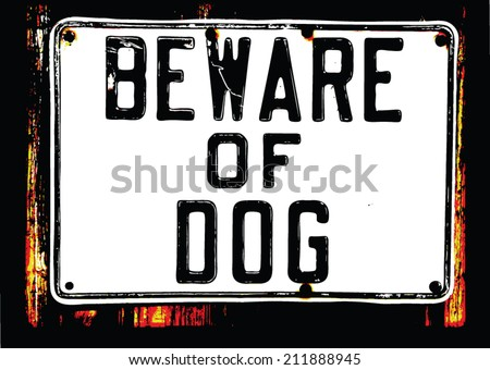 dog sign - stock vector