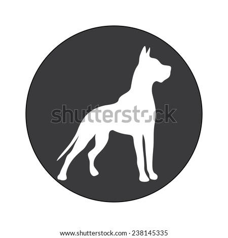 DOG SYMBOL illustration vector - stock vector