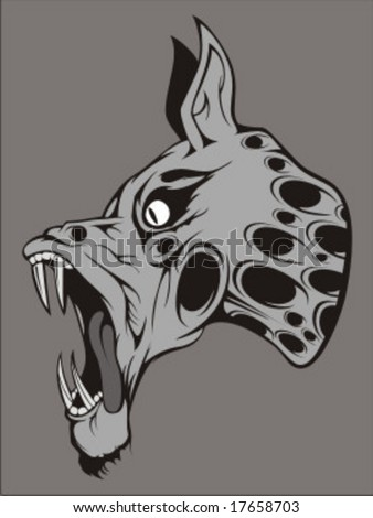 dog zombie - stock vector
