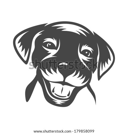 Doggy face Branding Identity Corporate vector logo design template Isolated on a white background - stock vector