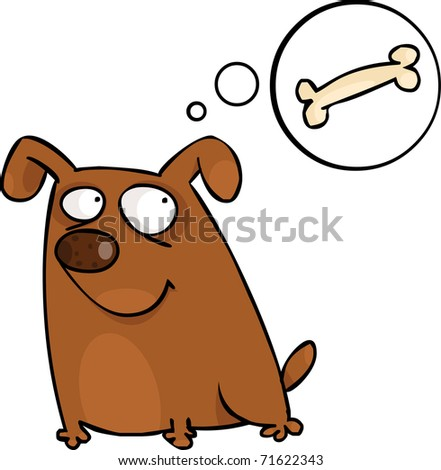 Doggy with speech bubble - stock vector