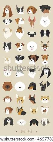 dogs face vector illustration