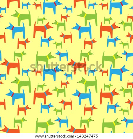 Dogs pattern - stock vector