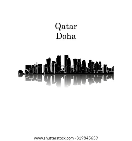 Doha, Qatar - stock vector