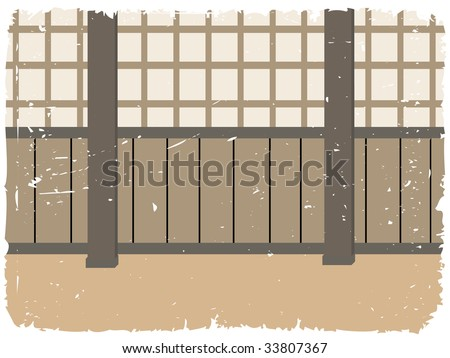 Dojo training room - stock vector