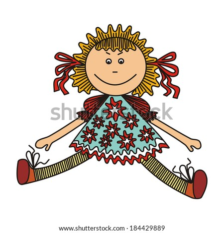 Doll vector illustration