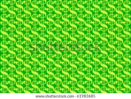 Dollar background - stock vector