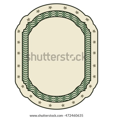 dollar emblem seal isolated icon vector illustration design