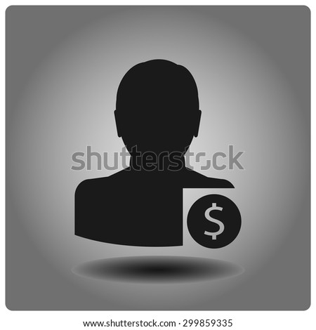 Dollar icon, vector illustration. - stock vector