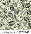 Dollar seamless texture. Vector. - stock photo