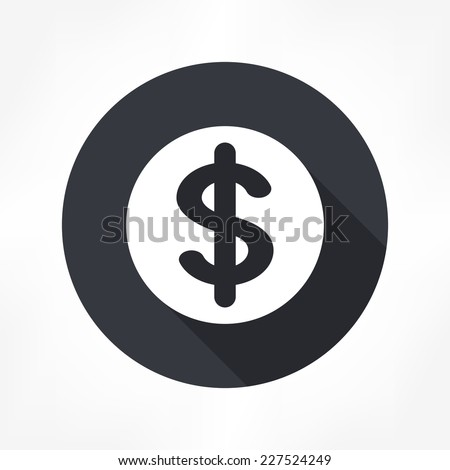 dollar sign icon - stock vector