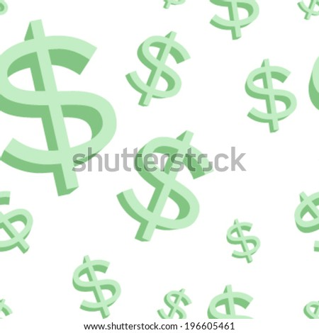 Dollar sign seamless tile background pattern texture - stock vector