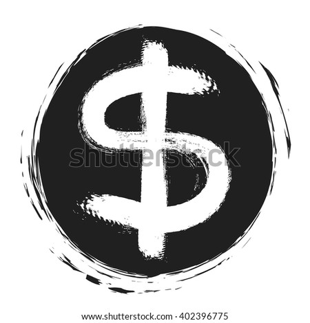 dollar sign simple icon on white background, vector illustration design element