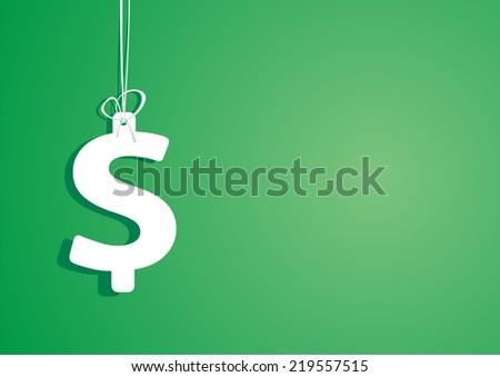 Dollar sign. Vector illustration. - stock vector