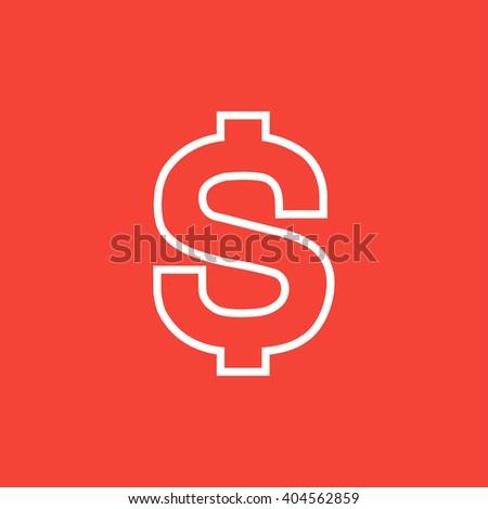 Dollar symbol line icon. - stock vector