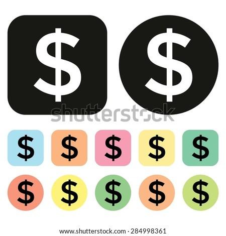 Dollar symbol. US Currency icon. Money icon. Vector - stock vector