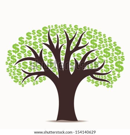 dollar tree stock vector - stock vector