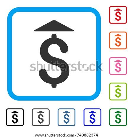 Dollar Icon Flat Grey Iconic Symbol Stock Vector 740882374