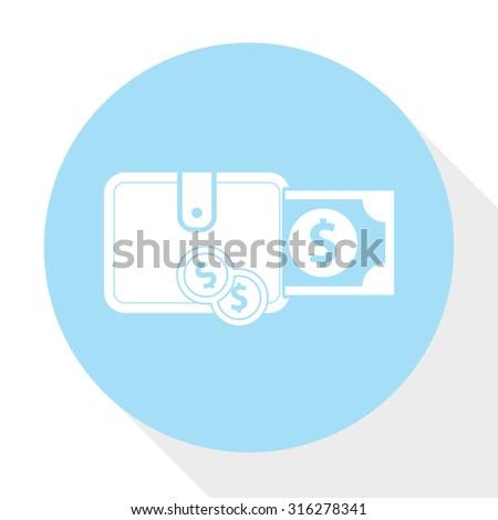 dollar wallet  icon - stock vector