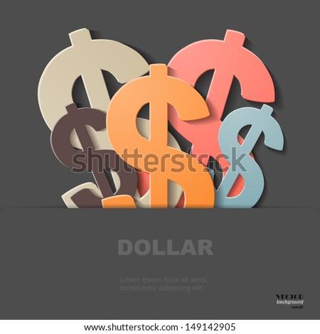 Dollars, eps 10 - stock vector