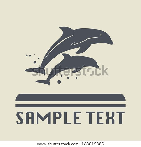 Dolphin icon or sign, vector illustration - stock vector