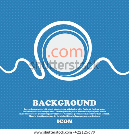 Domain COM sign icon. Top-level internet domain symbol. Blue and white abstract background flecked with space for text and your design. Vector illustration - stock vector