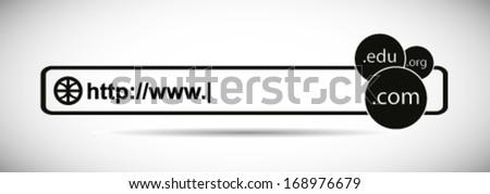 Domain & Hosting Provider Site - stock vector