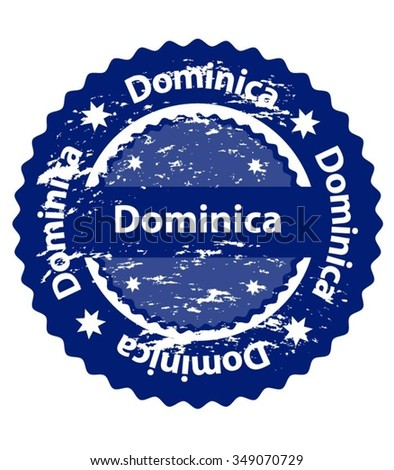 Dominica Country Grunge Stamp - stock vector
