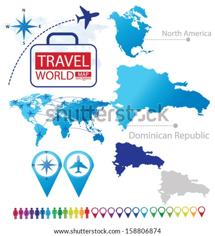 Dominican republic north america world map stock vector royalty dominican republic north america world map travel vector illustration publicscrutiny Choice Image