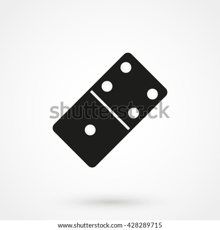 Domino icon isolated on background. Modern flat pictogram, business, marketing, internet concept. Trendy Simple vector symbol for web site design or button to mobile app. Logo illustration - stock vector